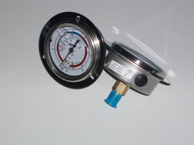 充油高低壓冷煤壓力表