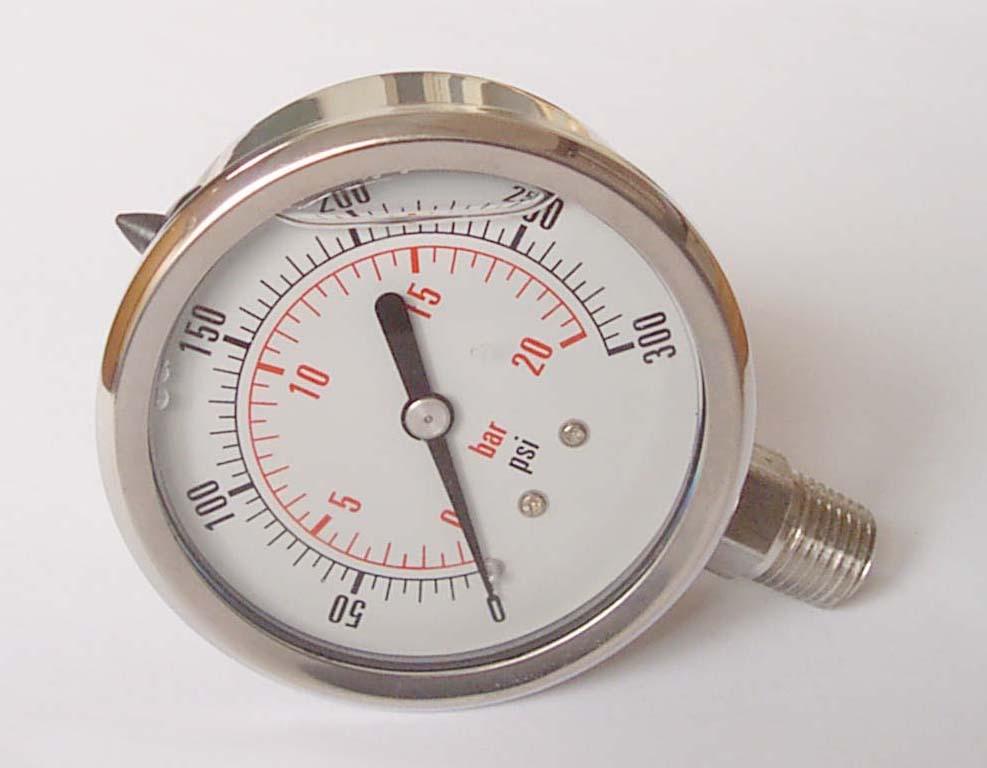 全不銹壓力表YN-63 20BAR